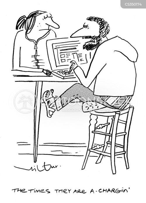 the press cartoon