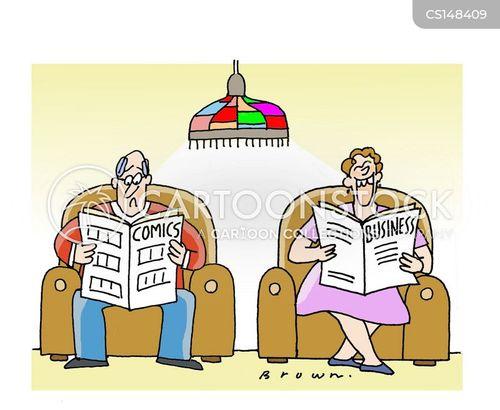 weekend papers cartoon