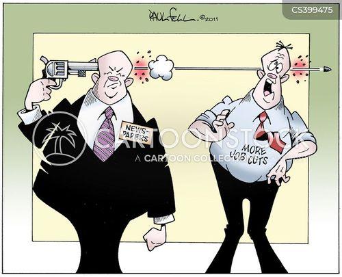 job cut cartoon