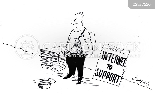 online news cartoon