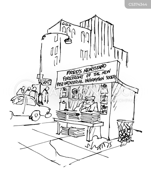 news agencies cartoon
