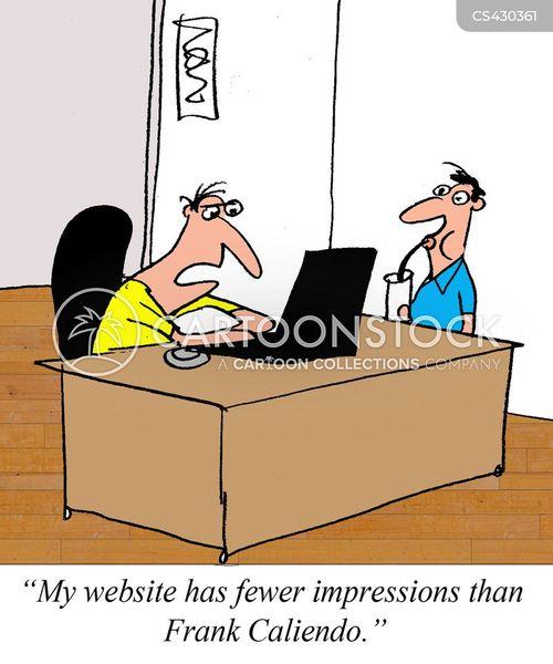 website traffic cartoon