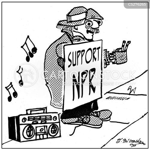 national public radio cartoon