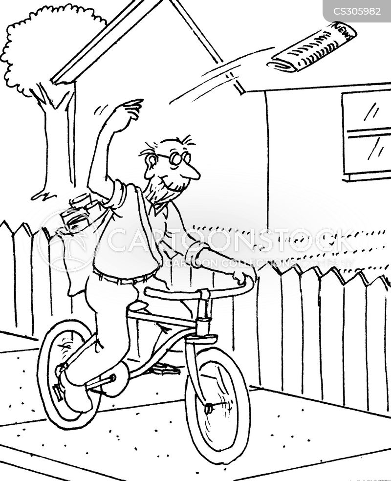 Newspaper Boy Drawing Newspaper Delivery Cartoon 9