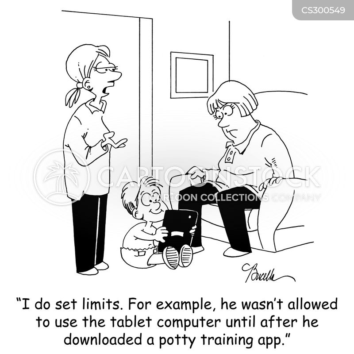 tablet computer cartoon