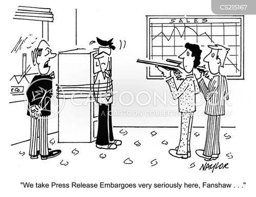 news embargoes cartoon