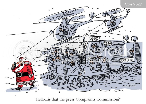 media attention cartoon