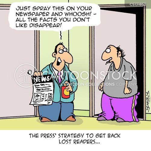 death of print journalism cartoon