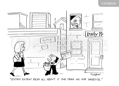 newspaper seller cartoon