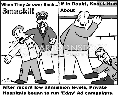 private hospitals cartoon