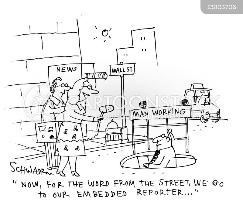 street reporter cartoon