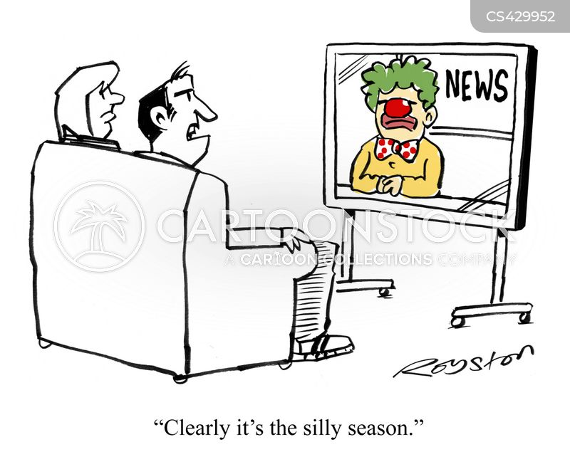 quiet news day cartoon