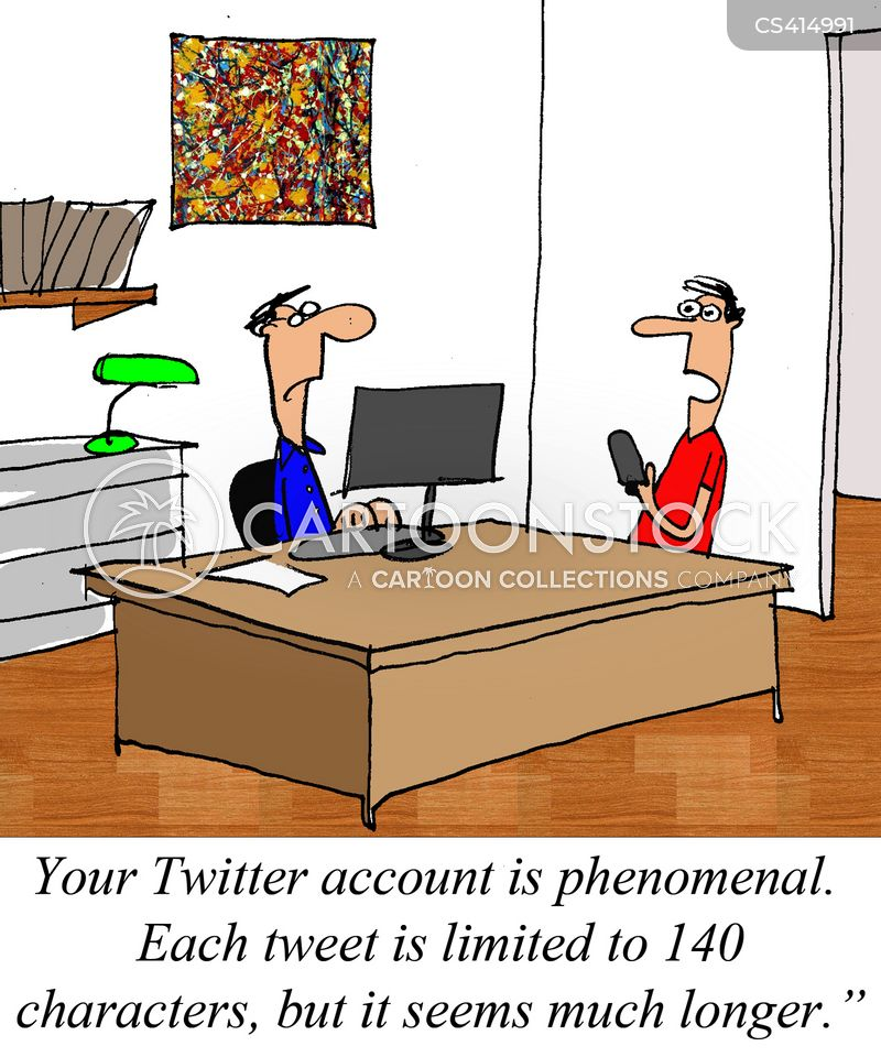 internet profile cartoon