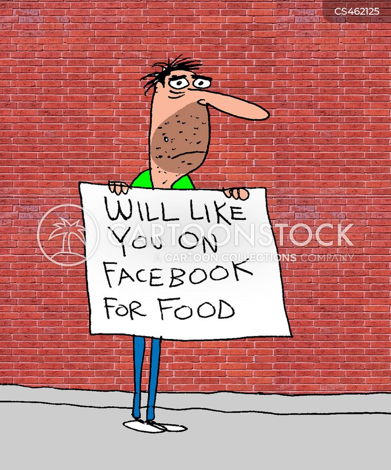 social media usage cartoon