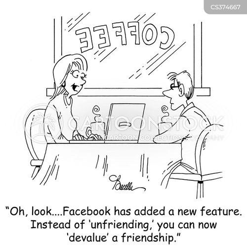 social networked cartoon