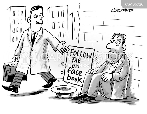 social media presence cartoon