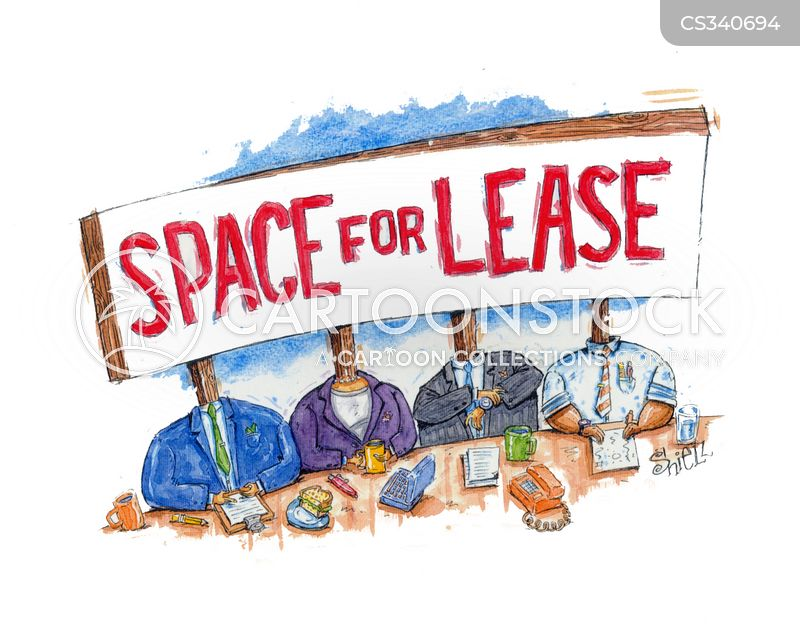 space for lease cartoon