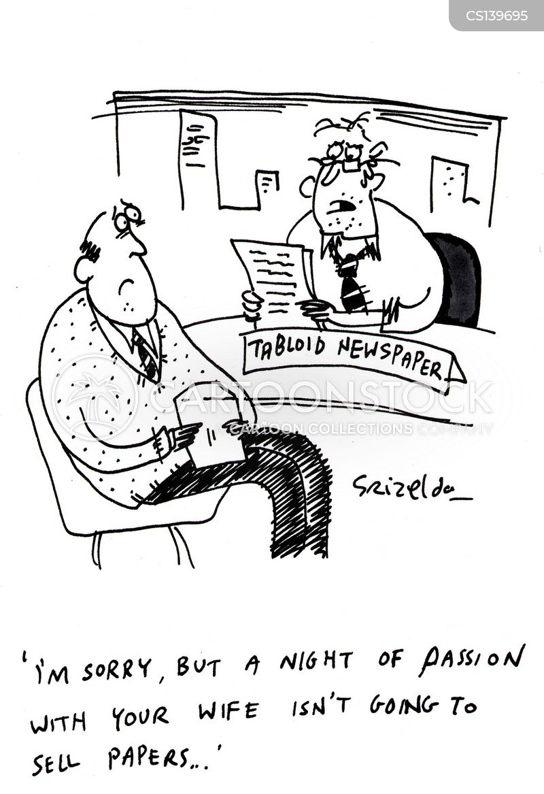 tabloid newspapers cartoon