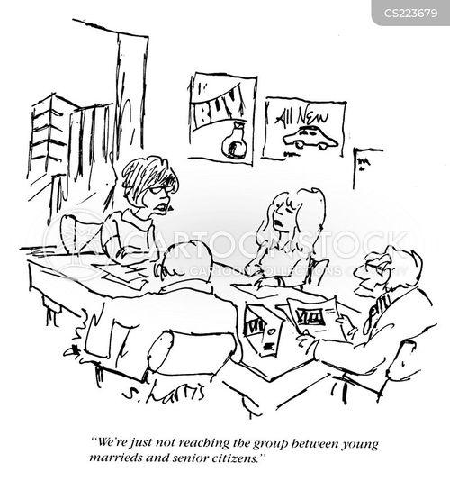 target groups cartoon