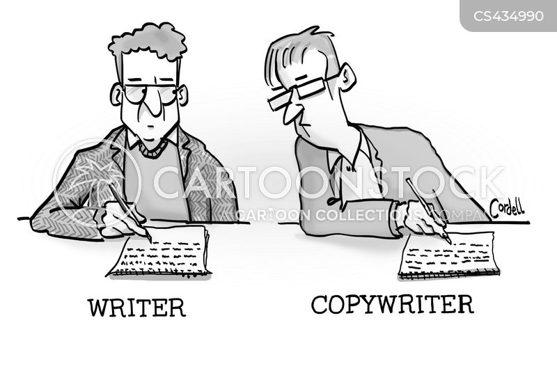copywriting cartoon