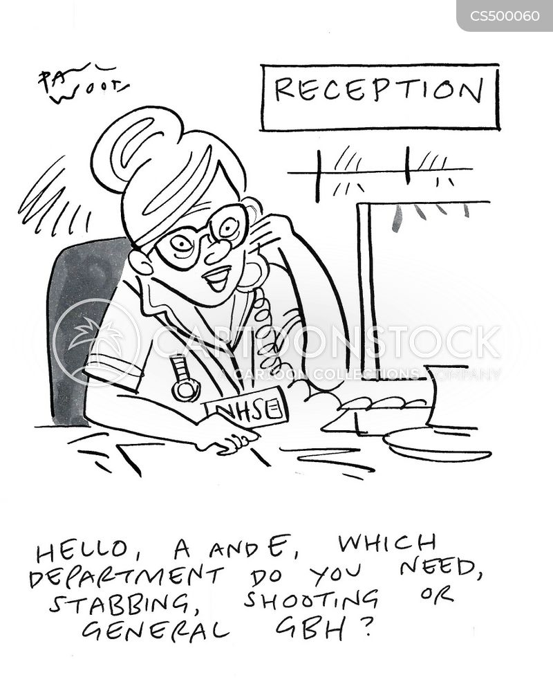 emergency treatments cartoon