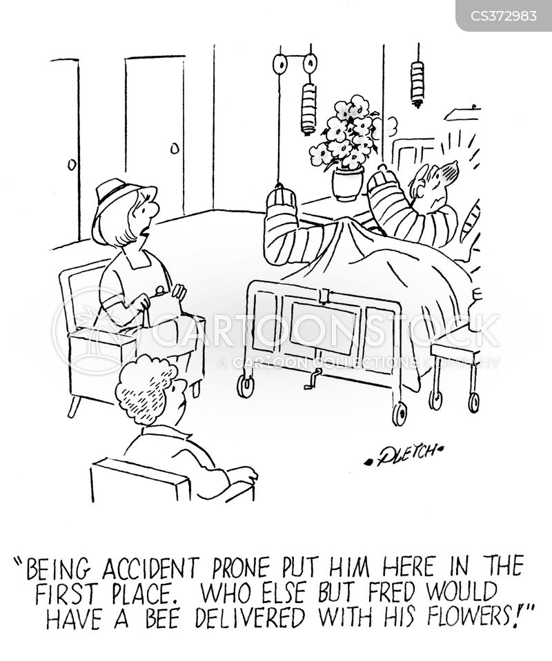 accident-prone cartoon
