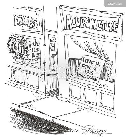 acupuncturists cartoon
