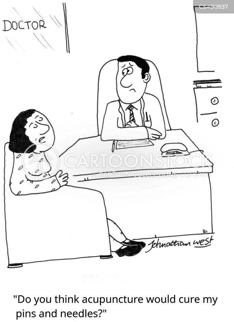 needle phobia cartoon
