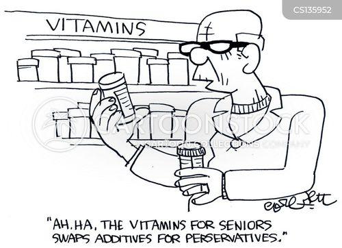 Senior Health Cartoon Health Food Store Cartoon 6 of