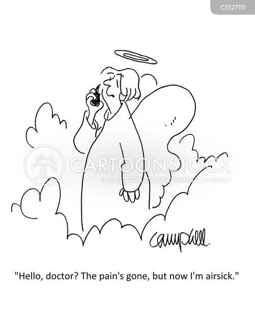 air sick cartoon
