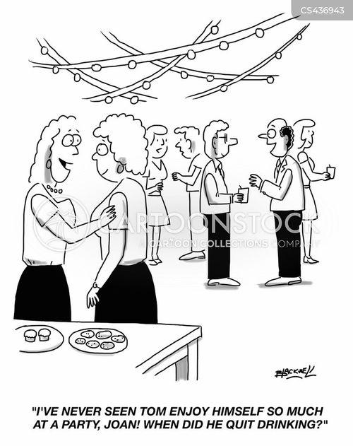 alcohol addiction cartoon