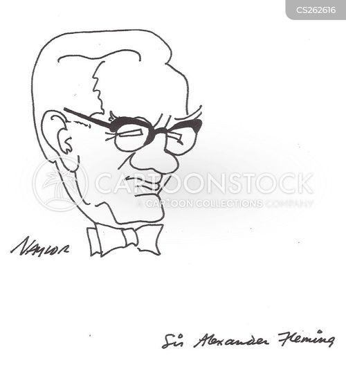 alexander fleming cartoon