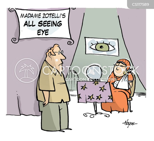 all seeing eye cartoon