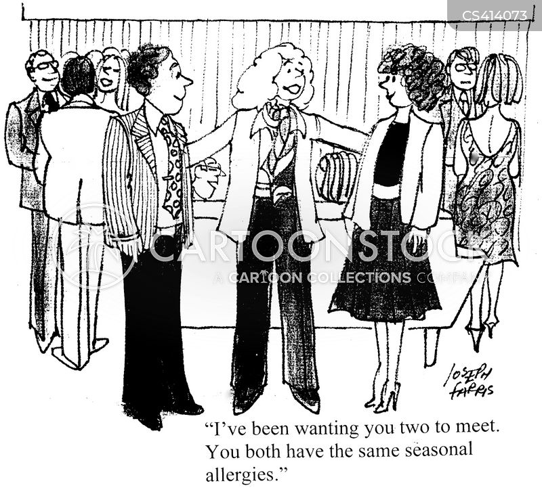 seasonal allergy cartoon