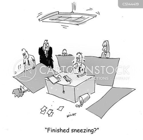 sneezing fit cartoon