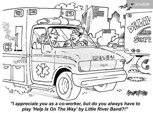 first responder cartoon