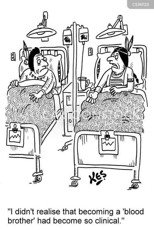 giving blood cartoon