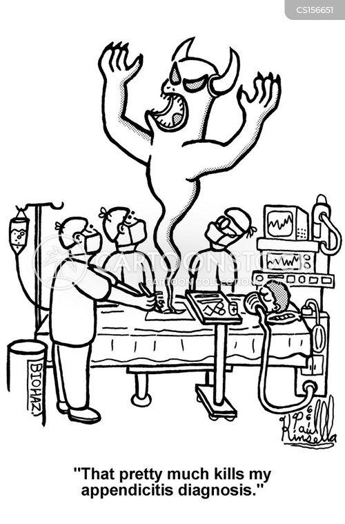appendicitis cartoon