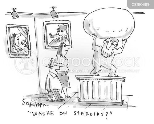 sports cheats cartoon