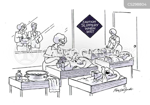 slipped cartoon