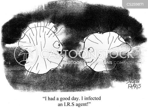 microscopic cartoon