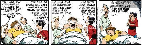 hospital visit cartoon