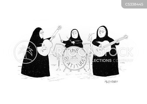 playing music cartoon