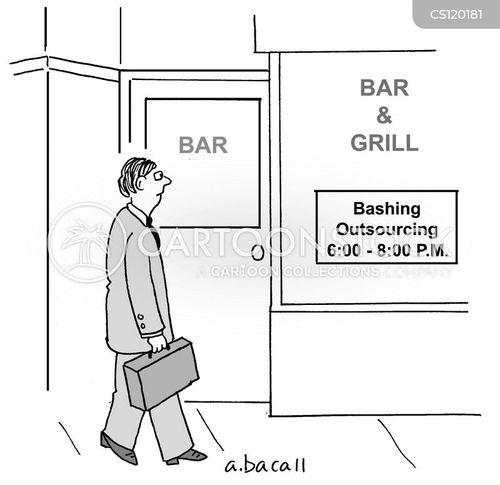 bashing cartoon