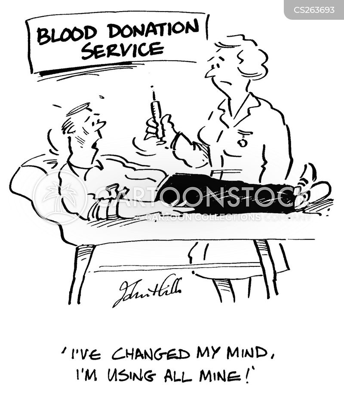 blood donations cartoon