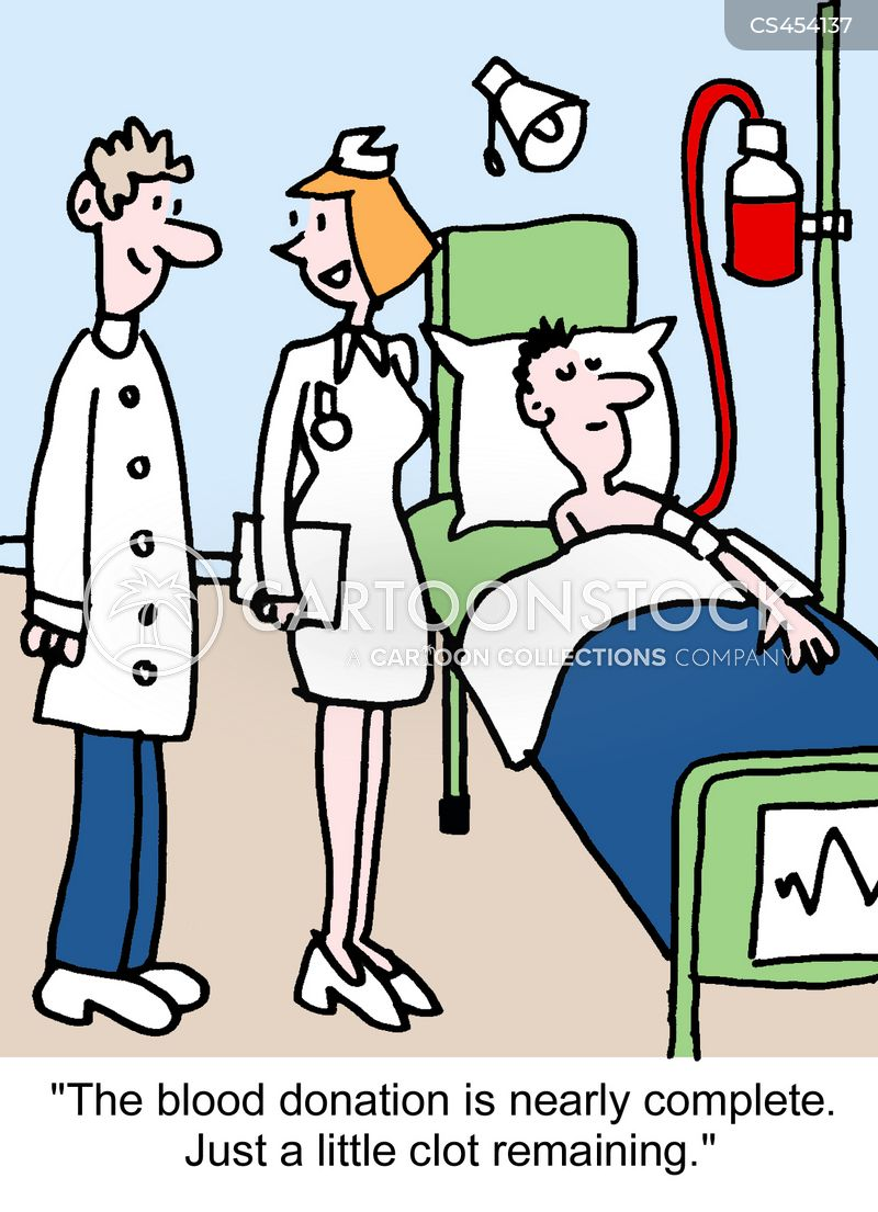 blood clots cartoon