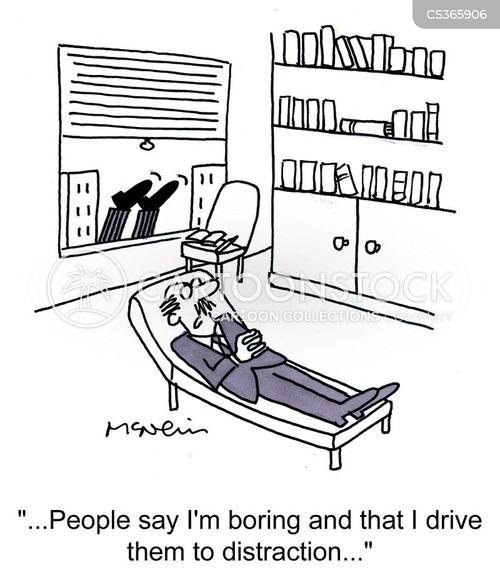 boring men cartoon