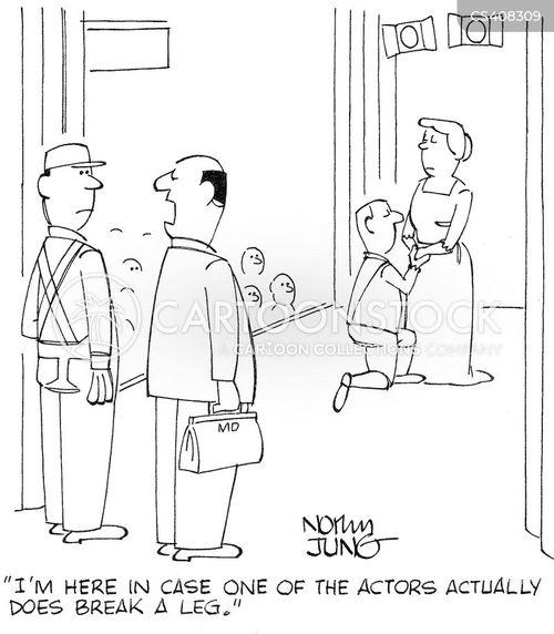 break a leg cartoon