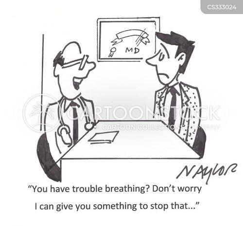 breathing problem cartoon