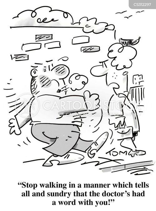 brisk walk cartoon
